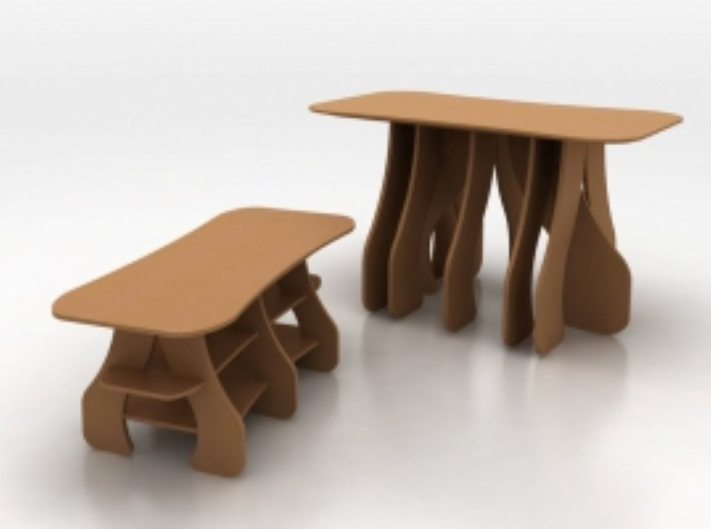 Création de meuble sur table de découpe.