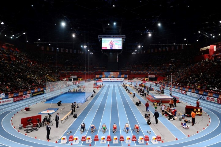 ATHLETICS - INDOOR EUROPEAN CHAMPIONSHIPS PARIS-BERCY 2011 - FRANCE - DAY 2 - 05/03/2011 - PHOTO : PHILIPPE MILLEREAU / DPPI -  60 M - START - GENERAL VIEW - ILLUSTRATION